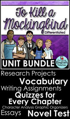 To Kill a Mockingbird Unit for High School English Teachers. American literature novel study.