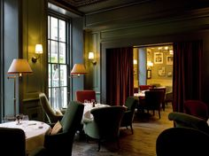 Dean Street Townhouse - perfect for whiling away the afternoon.  Lovely food, service, drinks, teas, decor and atmosphere.  Reasonably priced too.