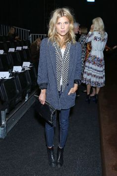 Fashion month parties continue in London with the best A-listers. Clemence Poesy at Erdem.
