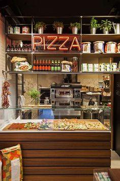Deco Restaurant, Pizza Restaurant, Restaurant Design, Italian Restaurant Decor, Pizzeria Design, Bakery Design, Pizza Project, Pizza Branding, Cafe Shop Design