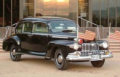 One of the many cars in the White house garage in the 1940s, FDR's Lincoln limousine