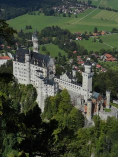 Neuschwanstein Castle, Bavaria, Germany -- this angle gives you a better idea of the size