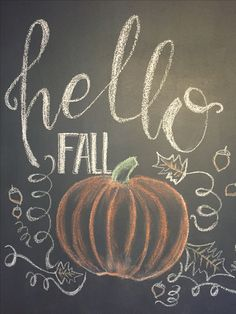 I could bring our chalkboard for us to leave messages for each other or to write Hallo Herbst Fall Chalkboard Art, Chalkboard Doodles, Blackboard Art, Chalkboard Writing, Chalkboard Drawings, Chalkboard Lettering, Chalkboard Designs, Chalkboard Ideas, Halloween Chalkboard Art