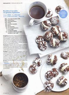 Chocolate cookies with jasmine tea ganache  http://www.riccardolettieri.it/     http://www.lacucinaitaliana.it/