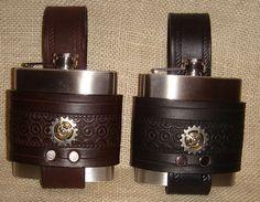 Hand Made Steampunk Gear hip flask 6 oz choice by TheGriffinWorks