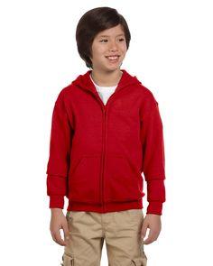 Gildan 18600B Youth Zip Hood - Red - L. Gildan 18600B Youth 7.5 Zip Hood. 18600B. Red. Large. Kid's Outerwear.
