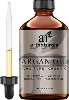 Art Naturals Organic Argan Oil for Hair, Face & Skin 4 oz - 100% Pure Grade A Triple Extra Virgin Cold Pressed From The kernels of the Moroccan Argan Tree - The Anti Aging, Anti Wrinkle Beauty Secret ArtNaturals