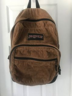 Vintage Jansport Corduroy Backpack on Mercari Mochila Jansport, Jansport Backpack, Brown Backpacks, Vintage Backpacks, Mochila Grunge, Mochila Hippie, Pretty Outfits, Cool Outfits, Look Fashion
