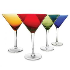 Colored Martini Glass Collection