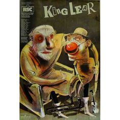King Lear, 1982 posters, canvas prints, framed pictures, postcards & more by Adrian Noble. Shakespeare Theatre, Royal Shakespeare Company, Shakespeare Plays, William Shakespeare, Romeo And Juliet Poster, Play Poster, Old King, King Lear, Art Thou