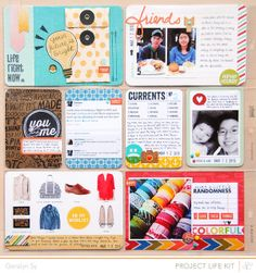 In a Creative Bubble: an article about Studio Calico kit..but I love the project life layouts here