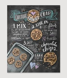 Choc Chip Cookie Recipe - Print