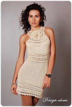 Fabulous Crochet a Little Black Crochet Dress Ideas. Georgeous Crochet a Little Black Crochet Dress Ideas. Moda Crochet, Crochet Top, Crochet Skirts, Crochet Clothes, Crochet Designs, Crochet Patterns, Crochet Wedding, Crochet Woman, Crochet Fashion