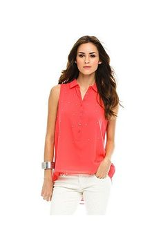 Hi Low Blouse - Shirts & Blouses - Womens - Armani Exchange