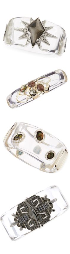 Alexis Bittar Lucite Bangles--I wore one to our son's wedding-so special :)
