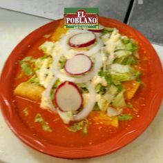 Celebra tu Cinco de Mayo con nosotros!  Disfruta de unas: Enchiladas rancheras Te esperamos!! #ElPoblano #CincoDeMayo #enchiladas #mexico #comidaMexicana #latinos