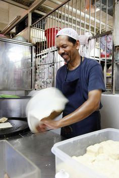 "Did you know that the word ""roti"" can mean different types of bread depending on which part of Asia you are in? In Southeast Asia roti is not only delicious, watching the dough being kneaded, tossed and stretched is a form of entertainment for kids in itself. Read all about it on our website http://www.suitcasesandstrollers.com/articles/view/asian-street-foods-for-kids?l=all #GoogleUs #suitcasesandstrollers #travel #travelwithkids #familytravel #familytraveltips #traveltips"