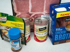 No-Peek Pork Chops and Rice   12 Tomatoes Easy Pork Chop Recipes, Easy Casserole Recipes, Pork Recipes, Casserole Dishes, Pork Chops And Rice, Baked Pork Chops, Cream Of Celery Soup, Onion Soup Mix