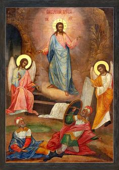 Religious Images, Religious Icons, Religious Art, Christ Is Risen, Biblical Art, Orthodox Christianity, Faith In Love, Orthodox Icons, Christian Art