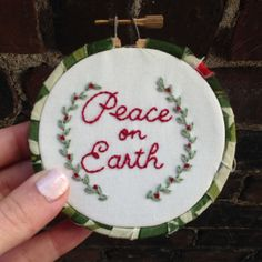 Merry Christmas! This 3 inch embroidery hoop makes the perfect Christmas ornament to put on your own tree or give as a special holiday gift.