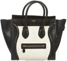 CÉLINE Black Leather Handbag Luggage