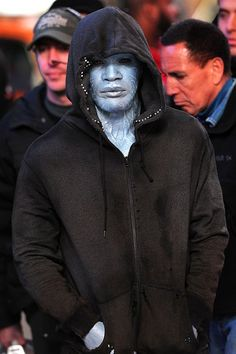 Jamie Foxx all done up for 'The Amazing #SpiderMan 2'