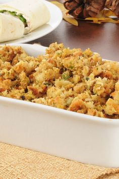 16 Delicious Stuffing Recipes for Thanksgiving Turkey Stuffing Recipes, Stuffing Recipes For Thanksgiving, Thanksgiving Side Dishes, Holiday Recipes, Dinner Recipes, Seasonal Recipe, Sausage Stuffing, Stuffing Casserole, Sage Sausage