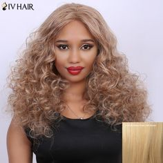 Curly Long Fluffy Centre Parting Real Natural Hair Siv Wig #>=#>=#>=#>=#> Click on the pin to check out discount price, color, size, shipping, etc. Save and like it!