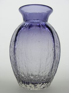 Aubergine Dartington Glass Vase