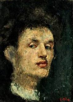 Edvard Munch, self-portrait, 1896