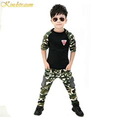 2017 New Camouflage Kids Clothing Set for Boys&Girls Spring&Autumn Cotton Camo Boys Sports Set Active Girls Clothing Sets,YC018 #Affiliate