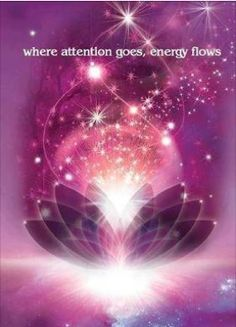 Where attention goes energy flows...