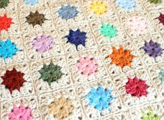 """Today I want to give you a little """"how to"""" on joining crochet squares. You may already know there are many ways you can join crochet motifs, including the JAYGO method that I used for my Granny Square Scrapghan, but for this afghan I just chose to go with a basic no-frills crochet slip stitch join."""