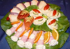 See related links to what you are looking for. Cold Dishes, Good Food, Yummy Food, Food Garnishes, Hungarian Recipes, Meat Recipes, Finger Foods, Sushi, Sandwiches