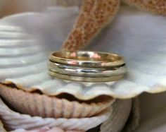 14k Spinner Ring Wedding Band 4.47 grams Size 6.5 , to purchase double click on picture.