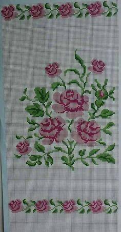New Ideas embroidery patterns cross stitch flowers beautiful Cross Stitch Letters, Cross Stitch Heart, Cross Stitch Borders, Cross Stitch Samplers, Modern Cross Stitch, Cross Stitch Flowers, Cross Stitching, Cross Stitch Embroidery, Embroidery Patterns