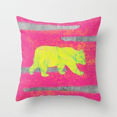 """""""orso nr.2"""" Throw Pillow by Juni on Society6."""