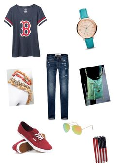 """""""Game day!!!"""" by fashionpassion2020 ❤ liked on Polyvore featuring Abercrombie & Fitch, Old Navy, Daytrip, FOSSIL, Vans and With Love From CA"""