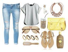 """Lazy Summer Day"" by emsulli ❤ liked on Polyvore featuring Zara, Cynthia Rowley, Gucci, DesignSix, Philip Kingsley, The Cambridge Satchel Company, Sun Bum and Daniela Farah"