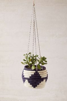 Indego Africa Woven Hanging Planter - Urban Outfitters