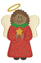 Christmas Angel 2 - 3 Sizes! | Christmas | Machine Embroidery Designs | SWAKembroidery.com Applique for Kids