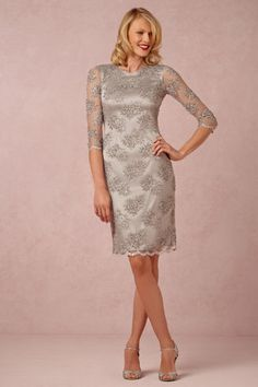 Silver mother of the bride dress. New at BHLDN!