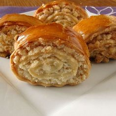 Nazook - Nazook is basically a flaky pastry dough filled with a sugary/buttery crumble mixture.