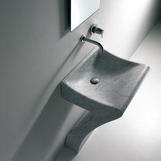 Agape LITO 1 wastafel in cararra marmer - washbasin in marble