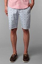 Kind of want to go sailing with these. Hawkings McGill Printed Cutoff Chino Short  #UrbanOutfitters