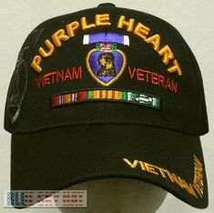 Available in Black color, Woodland Camouflage color and Digital Camouflage color. - Very nice hat. Purple Heart Day, Veteran Hats, Once A Marine, Camouflage Colors, Native American Crafts, American Veterans, Vietnam Veterans, Cool Hats, Military Hats