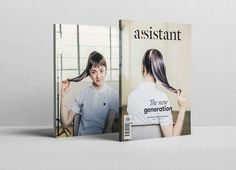 Assistant Magazine on Behance, interesting cover photography, with the portrait of Maisie Williams being shown on the back cover, with the tag-line 'the new generation' shown on the front cover, to intrigue the readers eye and lead them in. Simple, yet interesting use of the double s in assistant, work well with the choice of typeface.