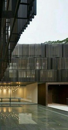 wood stripe elevation very nice details Cluny House in Singapore by Neri & Hu Design Architecture Antique, Facade Architecture, Amazing Architecture, Contemporary Architecture, Building Facade, Building Design, Facade Design, Exterior Design, Singapore Architecture