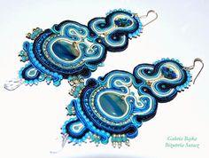 """Galeria Bajka Soutache Jewelry: Kolczyki (earrings) """"Blue Velvet"""""""