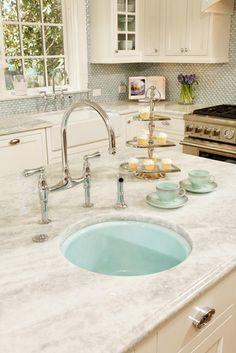 Quartzite Design, Pictures, Remodel, Decor and Ideas - LOVE the sink color